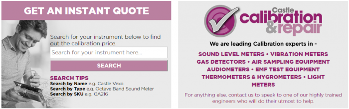 Calibration service for sound meters